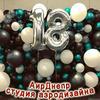 Композициия из шаров на дни рождения, юбилеи